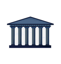 facade of a court building with columns in greek vector image