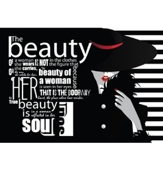 Fashion quote with woman vector image