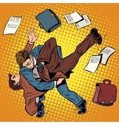 Fight men businessmen vector