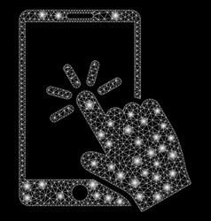 Flare mesh 2d click smartphone with flare spots vector