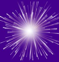 glowing light burst explosion vector image