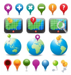 Gps navigation icons vector