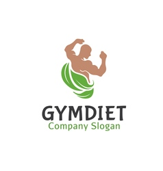 Gym diet design vector
