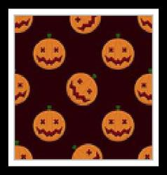 Halloween Pumpkin Seamless Pattern vector