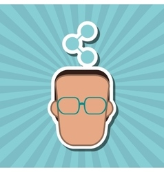 icon of business people design vector image