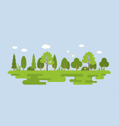 info graphic and elements of natural forest vector image