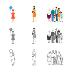 isolated object of character and avatar symbol vector image
