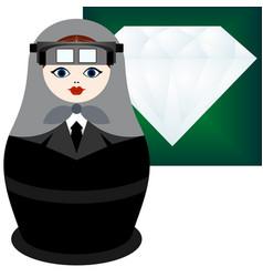 jeweler vector image