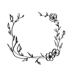 lavender flowers decorative wreath isolated on vector image