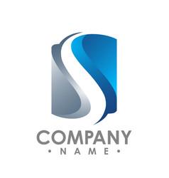 Letter s 3d logo template letter s trend logo vector