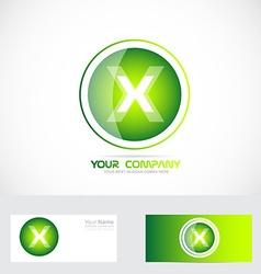 Letter X logo vector image