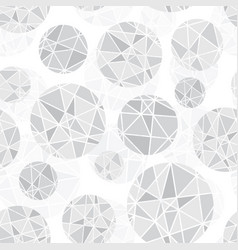 light grey geometric mosaic circles vector image