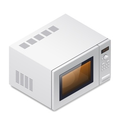 Microwave oven detailed isometric icon vector image