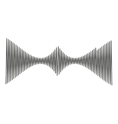 musical waves isolated icon design vector image