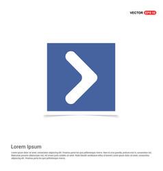 Next arrow icon - blue photo frame vector