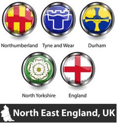 North east england uk vector