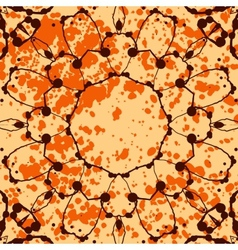 Orange background with splattered paint and vector