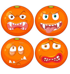 orange with facial expression vector image