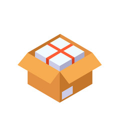 packing flat icon vector image