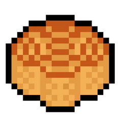 pixel chinese mooncake pastry - isolated vector image