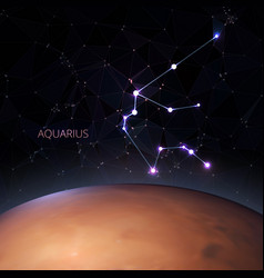 planet with of the zodiac aquarius vector image