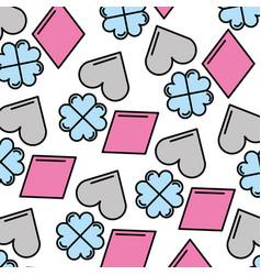 Poker symbols pattern background vector
