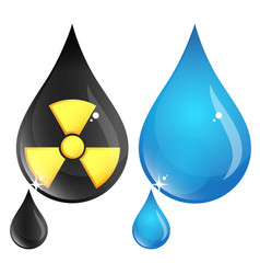 polluted and clean drop water vector image