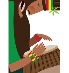 Rasta on white background vector