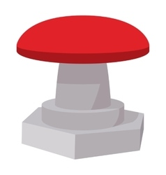 red button icon cartoon style vector image