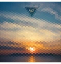 retro landscape pattern geometric shapes vector image