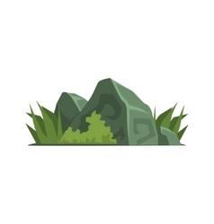 Rocks Covered With Vegetation Jungle Landscape vector image