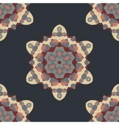 Seamless brown Abstract Retro Ornate Mandala vector image