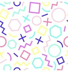 Seamless geometric pattern Memphis Style vector