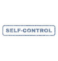 self-control textile stamp vector image