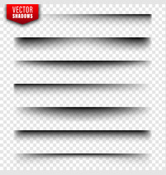 Shadows set page dividers on transparent vector