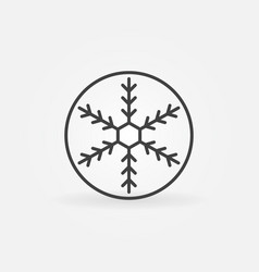 snowflake in circle outline icon vector image