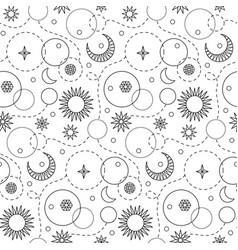 Space doodle seamless pattern vector