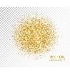 Sparkling circle golden glitter explosion vector