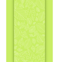 Spring leaf panel background vector