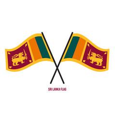 Sri lanka flag waving on white background vector