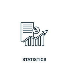 statistics icon thin line style symbol from vector image