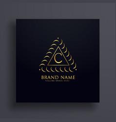 stylish letter c premium logo design concept vector image
