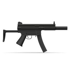 submachine machine hand gun weapons stock vector image