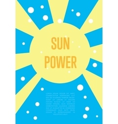 Sun power banner Eco energy concept vector