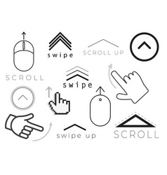 Swipe up stories icon vector
