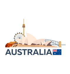 Travel to australia sydney skyline vector