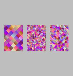 trendy abstract gradient square flyer background vector image