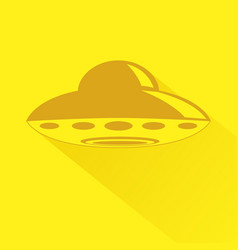 Unidentified flying object icon vector