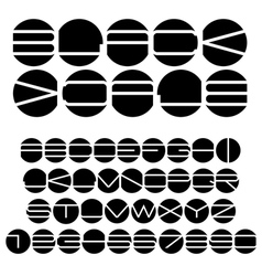 Unusual black and white alphabet vector