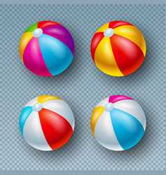 With colorful beach ball vector